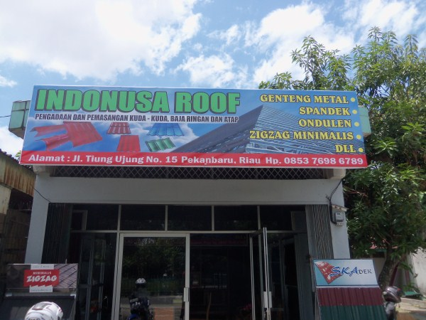 "100 5091 - Toko Baja Ringan ""Indonusa Roof"" Pekanbaru"