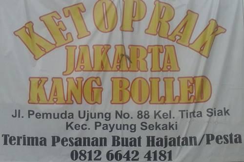 Ketoprak Jakarta Pekanbaru - Ketoprak Jakarta kang Bolled