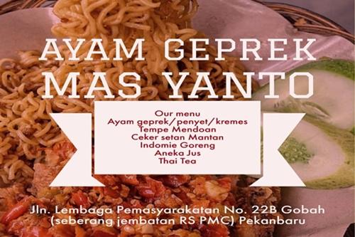 Ayam Geprek Mas Yanto Pekanbaru 1 - Ayam Geprek Mas Yanto Pekanbaru