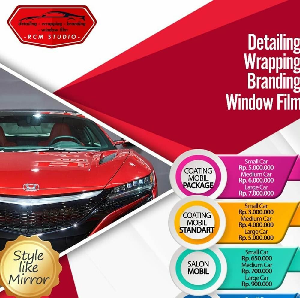 Rcm Studio 11 - Salon Baret Kaca Mobil dan Salon Mobil Murah Berkualitas - Rcm Studio