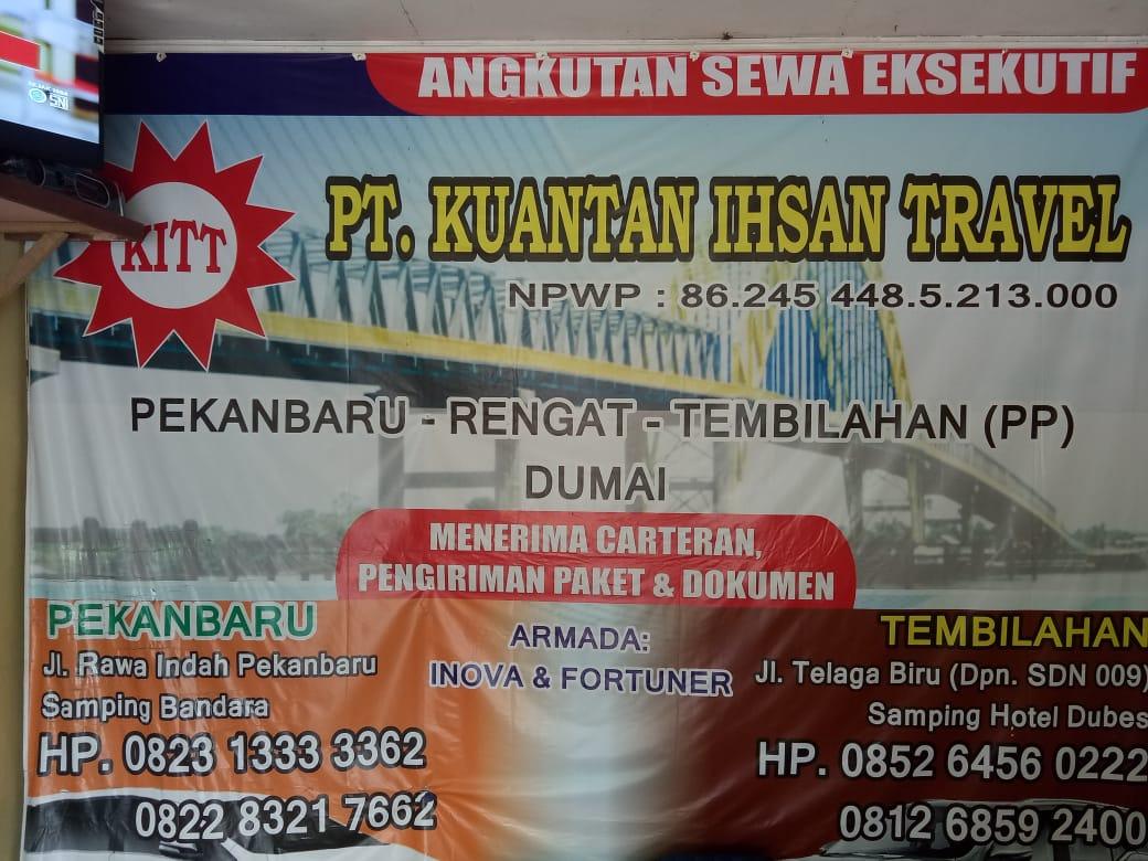 PT Kuantan Ihsan Travel 4 - PT Kuantan Ihsan Travel - Travel Pekanbaru Rengat Tembilahan Dumai