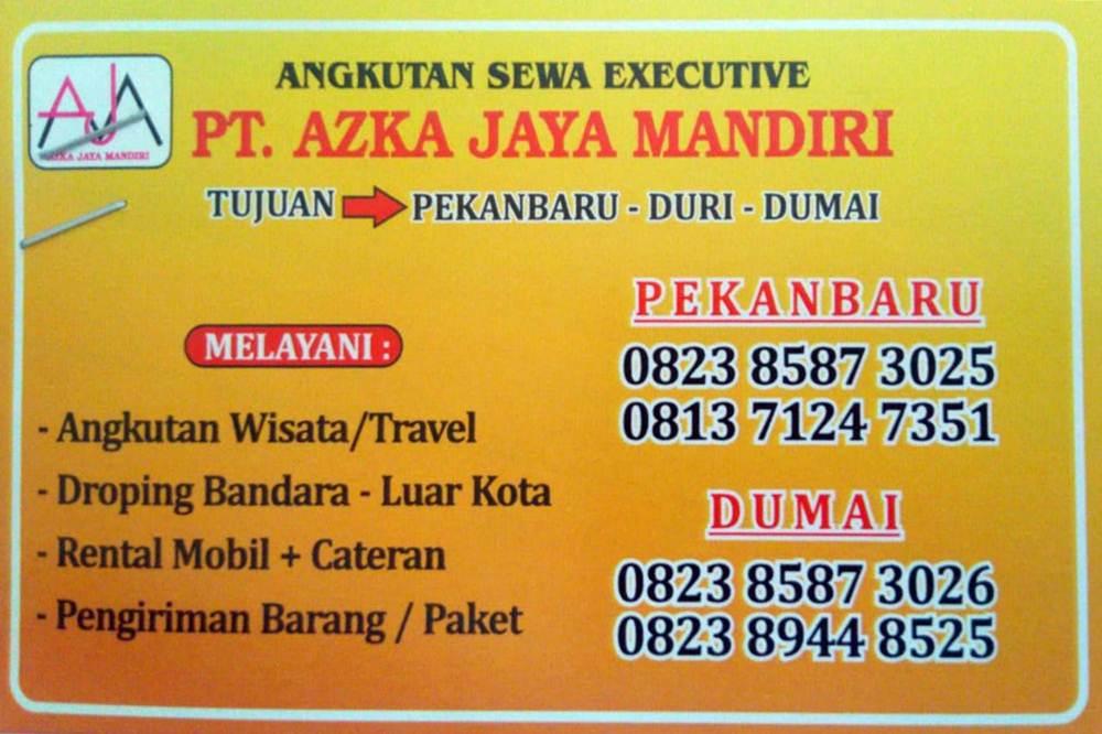 PT Azka Jaya Mandiri 1 - PT Azka Jaya Mandiri - Travel Duri Dumai Pekanbaru