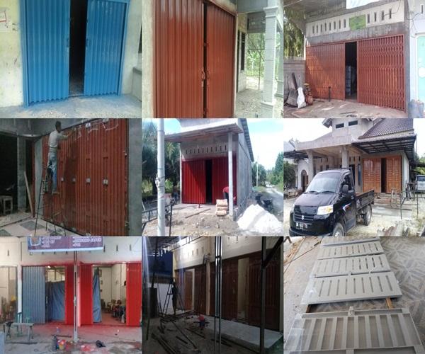 BJM.. - Belitang Jaya Mandiri - Pintu Besi Folding Gate Plat Press Pekanbaru