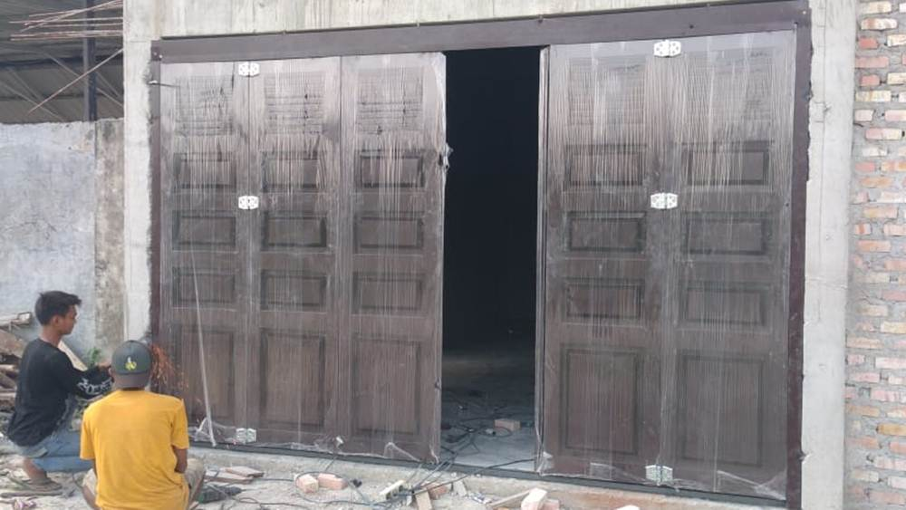 Belitang Jaya Mandiri 3 - Belitang Jaya Mandiri - Pintu Besi Folding Gate Plat Press Pekanbaru