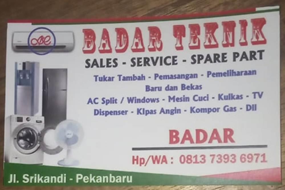 Badar Teknik Ac - Jasa Service Elekronik Panggilan Pekanbaru