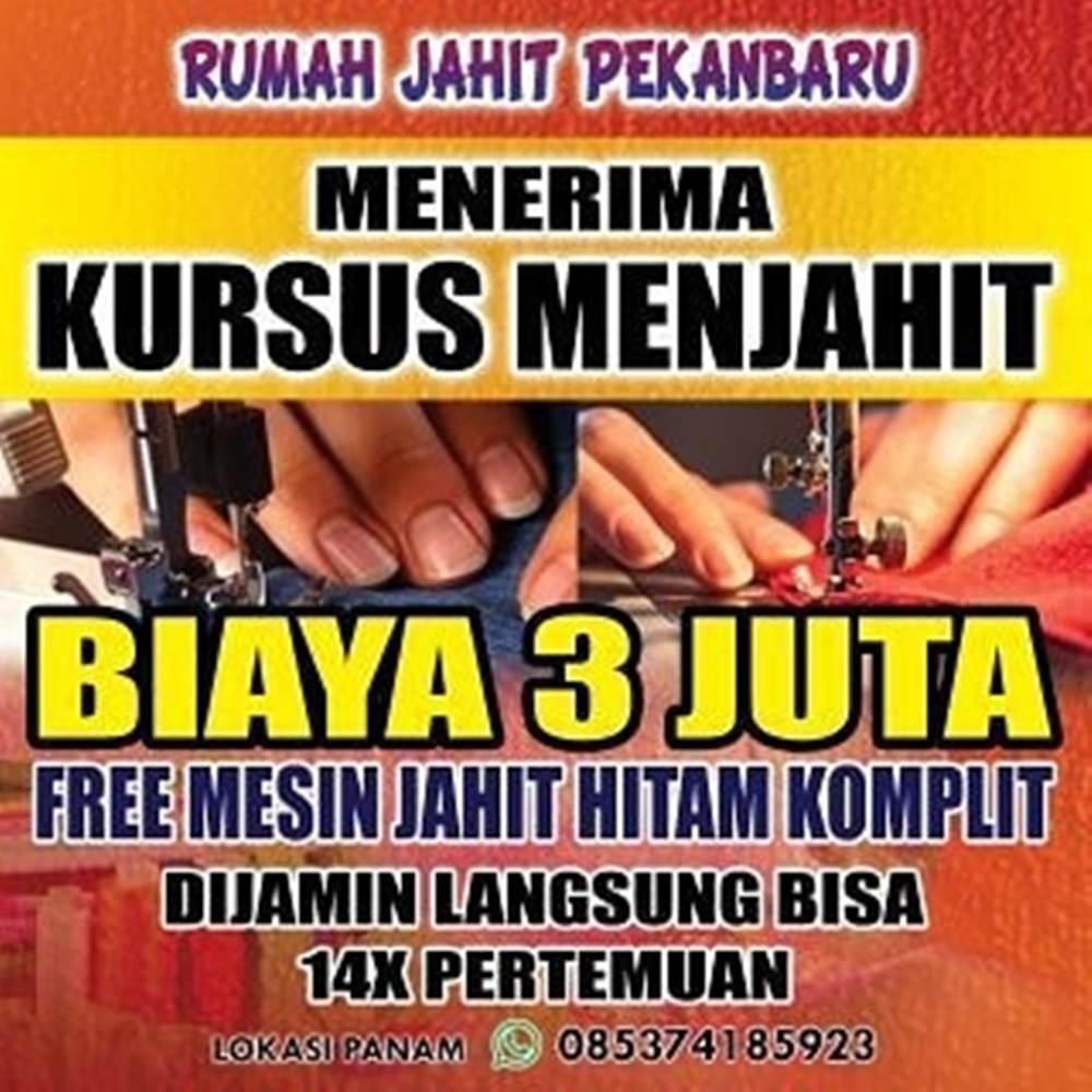 Rumah Jahit Pekanbaru 2 - Kursus Menjahit Panam Pekanbaru