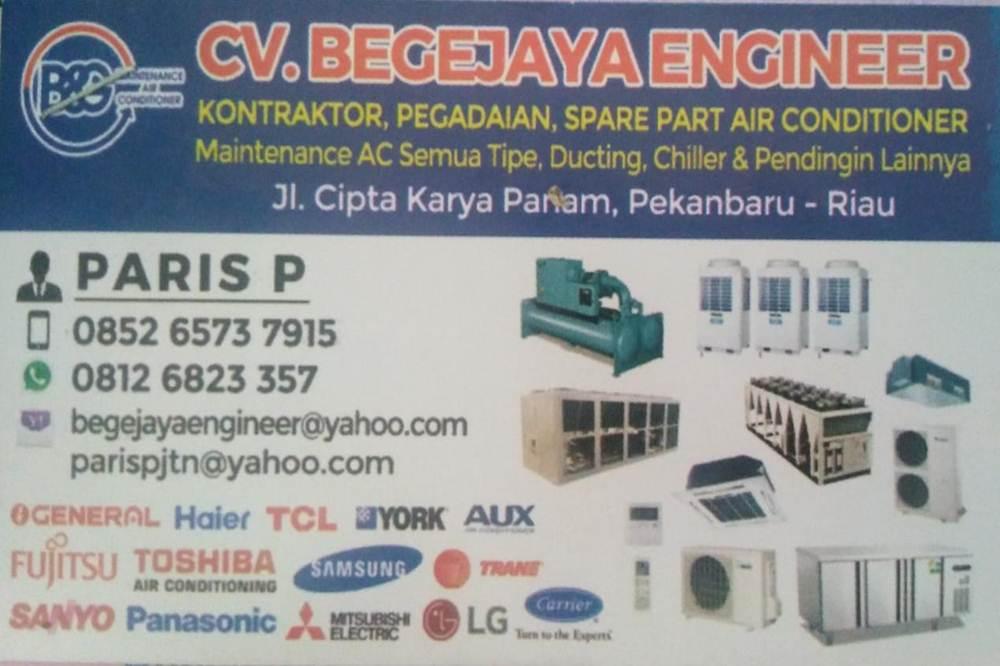 Cv Begejaya Enginer - Spesialis Pendingin dan Service Ac Marpoyan Panam Pekanbaru