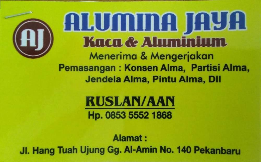 Alumina Jaya 10 - Alumina Jaya - Toko Kaca dan Alma Hangtuah Pekanbaru