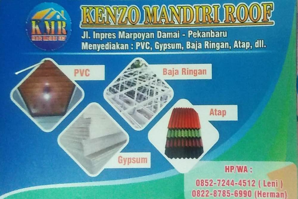 Kenzo Mandiri Roof - Plafon Pekanbaru